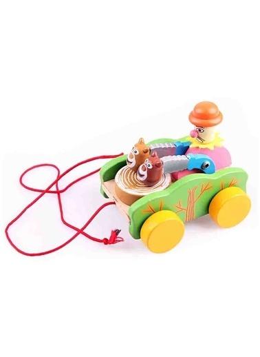 Learning Toys Ahşap Davul Çalan Palyanço Renkli